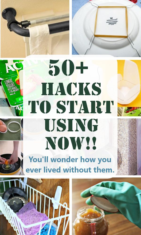DIY Home Sweet Home: 50+ Hacks to Start Using Now!! You'll wonder how you ever lived without them.