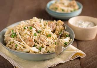 Orzo Salad with Chicken, Mint & Summer Peas (use chickpeas instead of ...