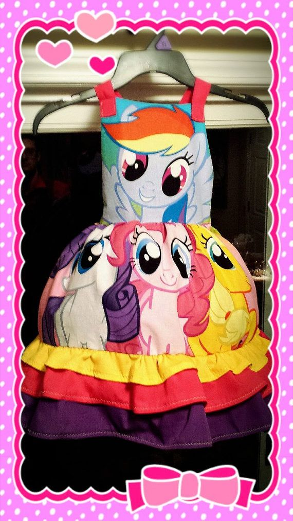 My Little Pony Birthday Party Dress Made to by RachelLutesDesigns