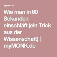 Wie man in 60 Sekunden einschläft (ein Trick aus der Wissenschaft) | myMONK.de – Gerti Klingler