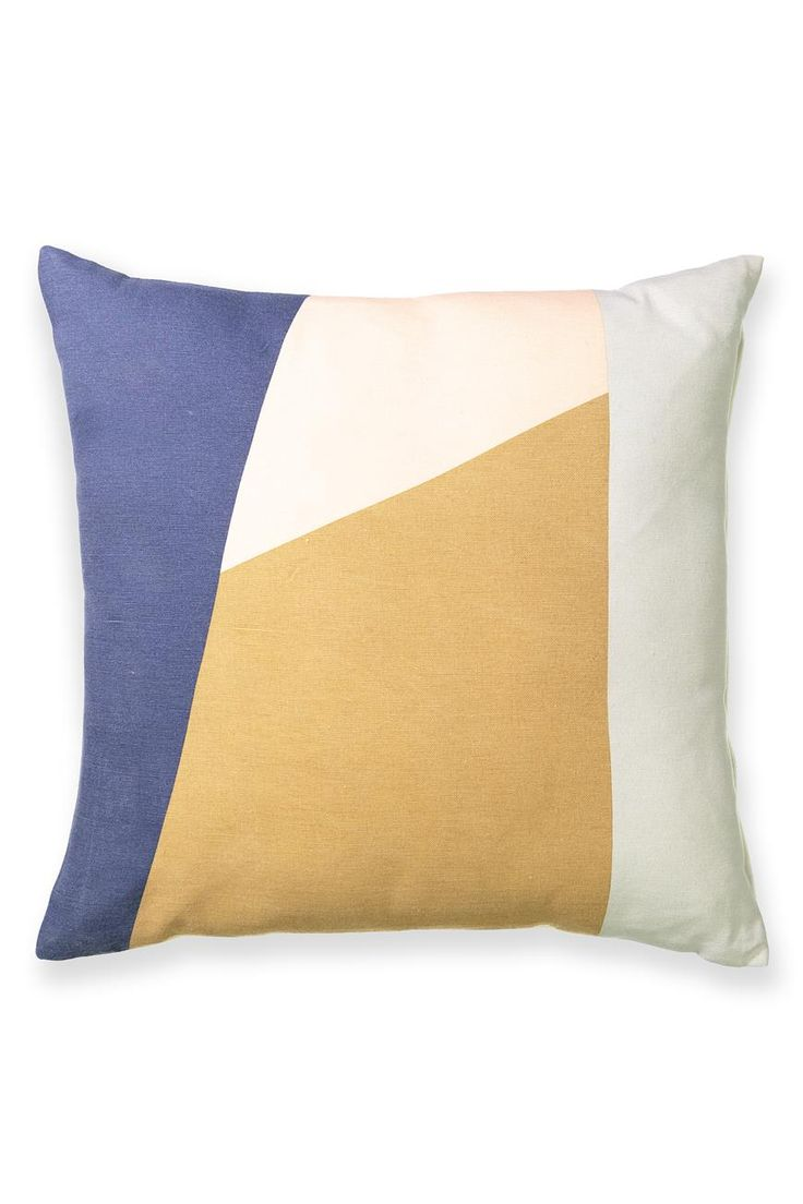 Spliced. Diced. Precisely applied. Dial things up with this high contrast, graphic cushion. Made from 100% cotton, it packs a serious style punch when teamed with colour-blocked neutrals like the Elin cushion.  <br /><br />50cm x 50cm<br />100% COTTON<br />Insert included<br />Machine washable <br /><br />