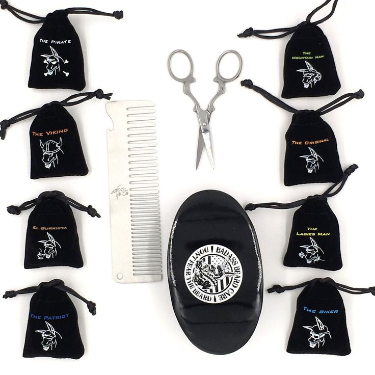 Badass Beard Care - Deluxe Grooming Kit, $67.99 (https://badassbeardcare.com/beard-grooming-kit-deluxe/) Comes with a Boars Hair Brush, a Badass Comb of your choice (black or silver butterfly comb), beard and mustache trimming scissors, and a Trial Kit which is all 8 of our Trial Packs of balm and oil so you can find the perfect scent for you! This is the kit for you if you're just getting into the beard game.