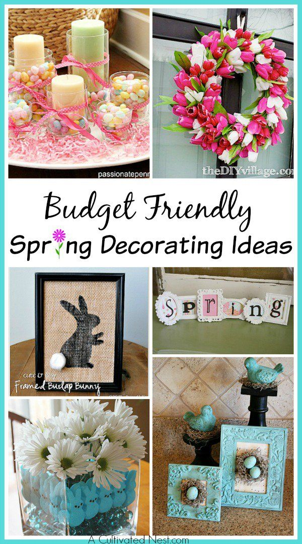 DIY Dollar Store Spring Crafts -  make some cute and inexpensive DIY spring decor using materials from the dollar store| Spring decorating ideas| Dollar Store Crafts| home decor projects| DIY home decorating ideas