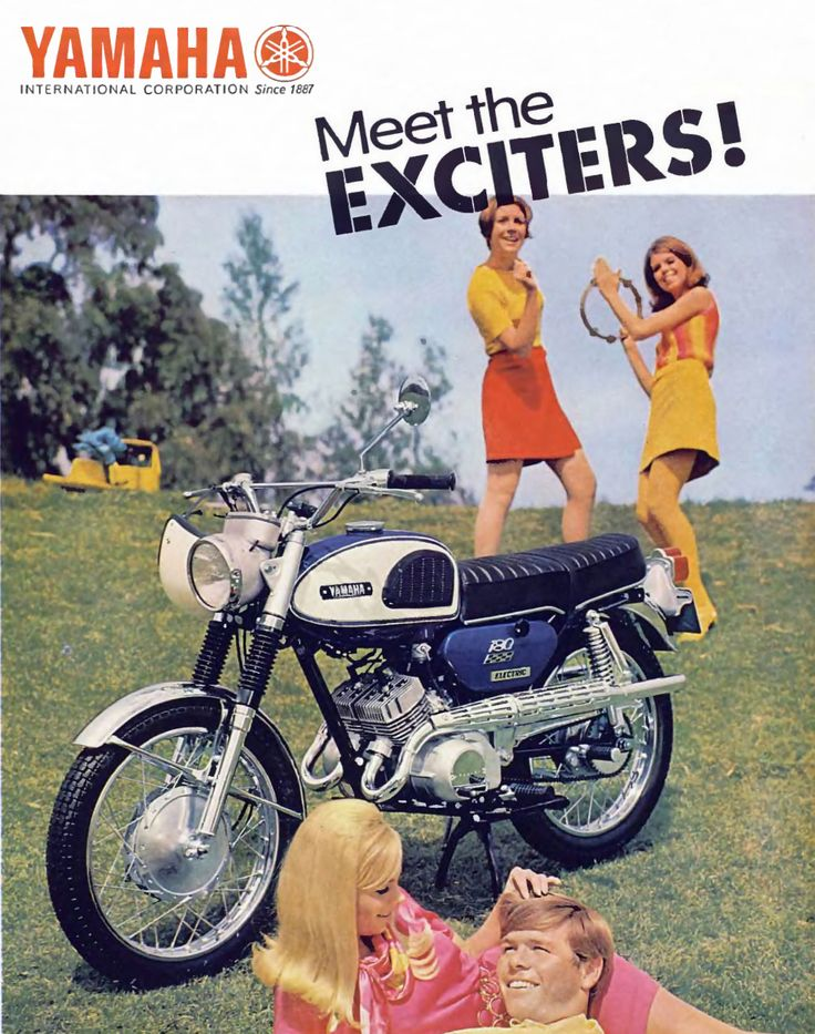 Detail from 1968 Advertisement for Yamaha Motorcycles