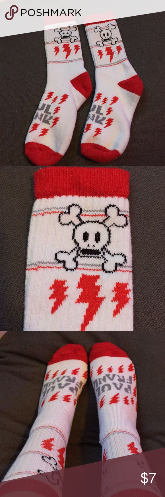 Paul Frank Socks Paul Frank socks, plush foot, size small Paul Frank Accessories Hosiery & Socks
