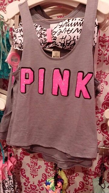PINK I LOVE THIS!!  VS Love Pink! Victoria's Secret Pink - Pink -vs pink - vs - cute clothes - work out clothes - pajamas