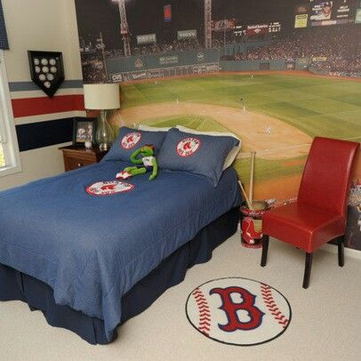 11 best images about red sox room on pinterest signs for Boston red sox bedroom ideas
