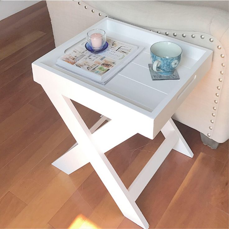 White end table, side table or bedside table