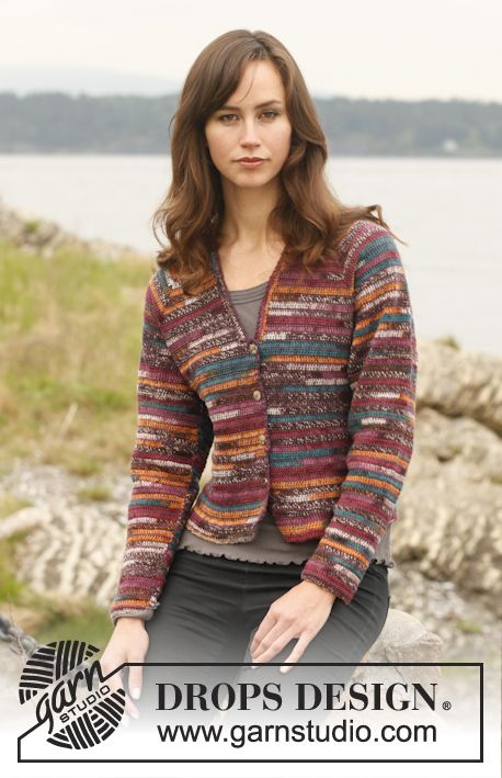 Ravelry: Mosaïque - Wide jacket with raglan in Fabel pattern by DROPS design