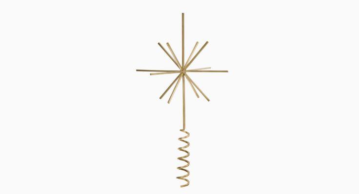 Christbaumspitze Star Brass