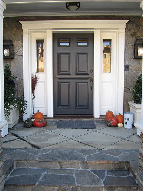 front door is Sherwin Williams Iron Ore
