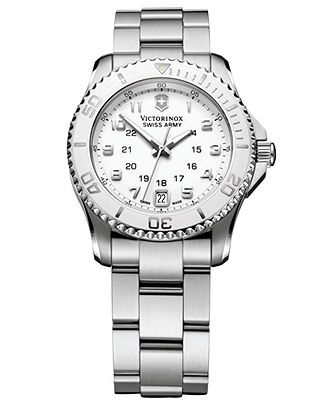 Victorinox Swiss Army Watch, Women's Maverick GS Stainless Steel Bracelet 34mm 249051 - All Watches - Jewelry & Watches - Macy's