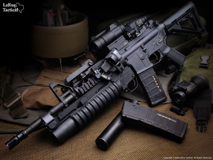 Colt M4 Carbine (SOPMOD STYLE) with KAC RAS Handguard, KAC Vertical Grip, Magpul CTR Stock, M203 Grenade Launcher