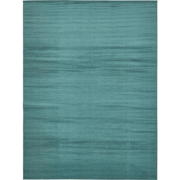 Tribeca Solid Teal Area Rug (9' x 12')