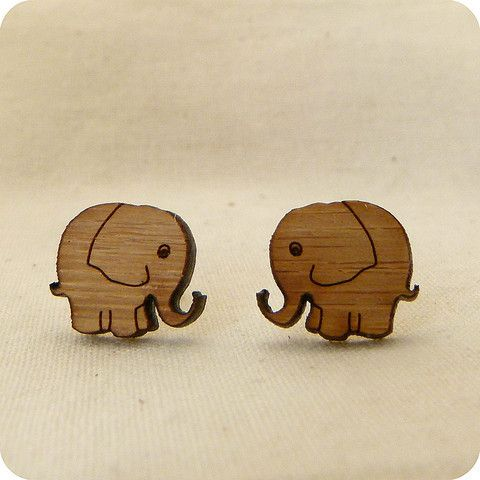 Elephant stud earrings | One Happy Leaf | Nell and Oll