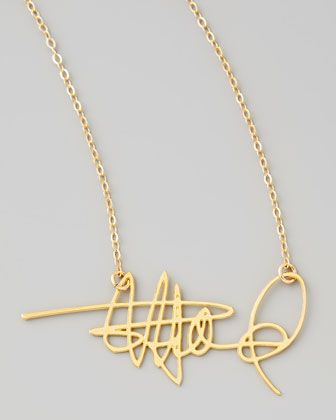 Brevity Custom Signature Necklace http://rstyle.me/~1cdnh