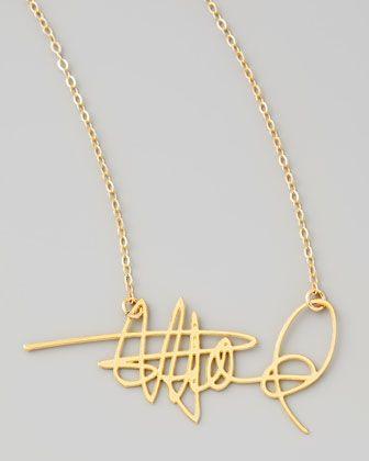 Custom Signature Necklace