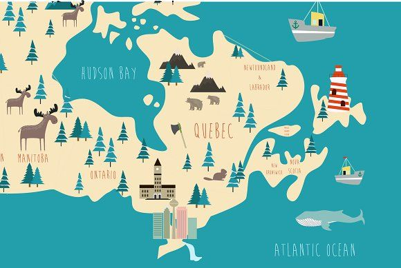 Mio Map Canada Illustration of Canada map | Canada map, Illustration, Illustrator cs