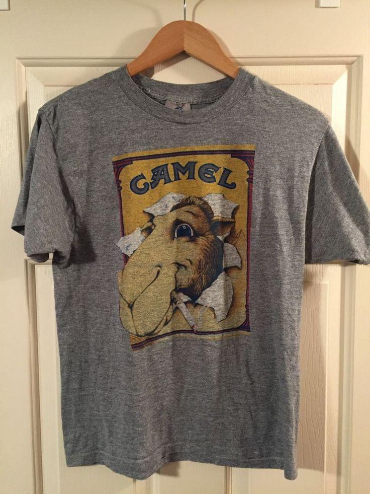 vintage joe camel shirt 80's cigarettes l from $0.99