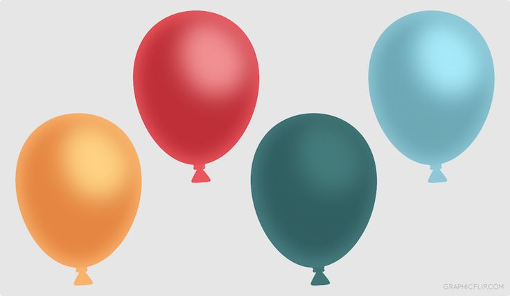 Free Colorful Balloons (PNG) for Game Development