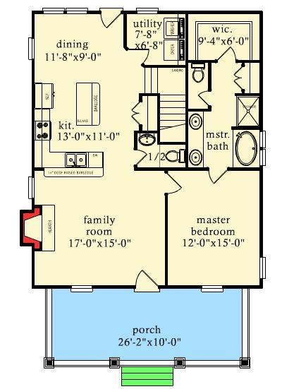 Rustic Escape With Bunk Room - 9744AL   Cottage, Country, Mountain, Vacation, Narrow Lot, 1st Floor Master Suite, CAD Available, PDF   Architectural Designs