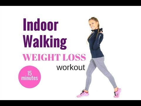 HOME WORKOUT - 15 MINUTE WALKING WORKOUT FOR WEIGHT LOSS  - the easy way...
