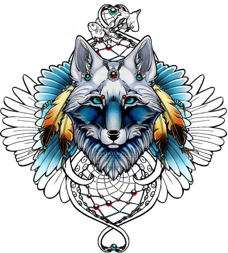 ловец снов волк рисунок