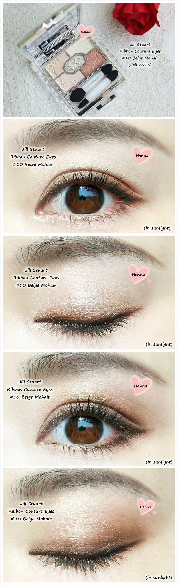 Jill Stuart Ribbon Couture Eyes Beige Mohair Fall