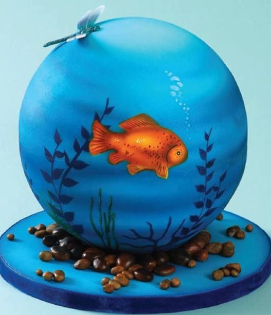 17 best images about airbrushing cakes on pinterest for Airbrush cake decoration