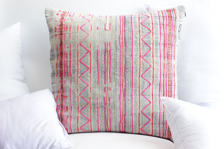 "Boho Bohemian RARE VINTAGE Handmade HMONG Textile Batik & Embroidered Ethnic Made A Piece Of Tradition Costume Pink Pillow Case 20"" x 20"" by LUVTEXTILES on Etsy https://www.etsy.com/listing/499417874/boho-bohemian-rare-vintage-handmade"