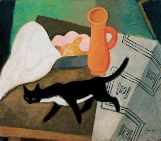 Berény Róbert - Fekete macska, 1930