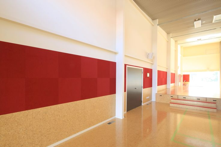 Composition Peel 'n' Stick Tiles - Cashmere Primary School. #Acoustics #ModernLearningEnvironment #InteriorDesign #AcousticFabric #ClassroomAcousitcs