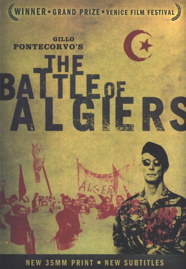 Franco-Algerian conflict, Gillo Pontecorvo's The Battle of Algiers.  Arabic, French 1966.