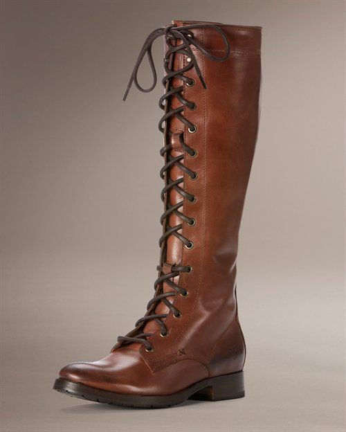 Frye is so expensive, but knee high brown boots are definitely on my list this year (preferably lace-up).  I would settle for a cheap imitation. ;)