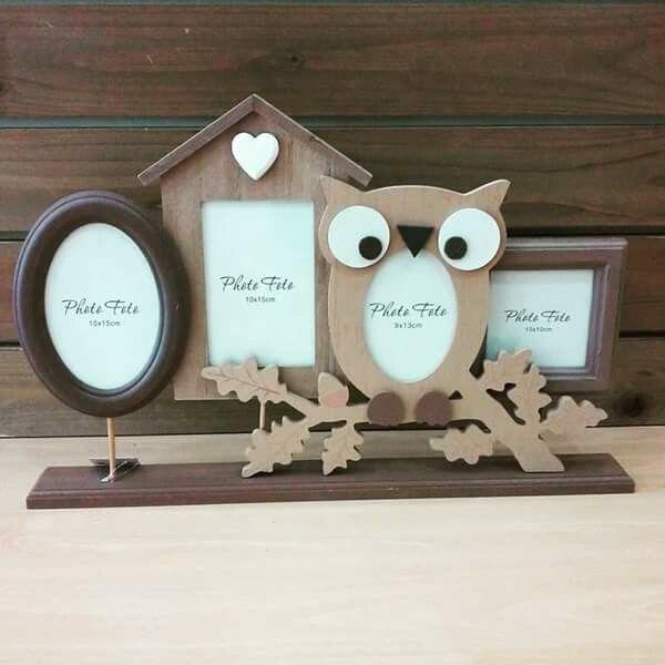 Owl frame deco