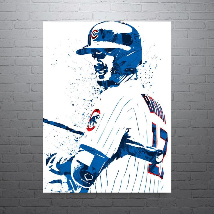 Kris Bryant Chicago Cubs, Sports Art Print, Baseball Poster, Kids Decor, Watercolor Contemporary Abstract Drawing Print, Man Cave by PixArtsy on Etsy https://www.etsy.com/listing/292168937/kris-bryant-chicago-cubs-sports-art