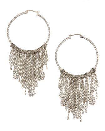 Gypsy Dangling Hoop Earrings: All Schwartz, Dangle Hoop, Hoop Earrings, Fierce Metalwar, Gypsy Dangle