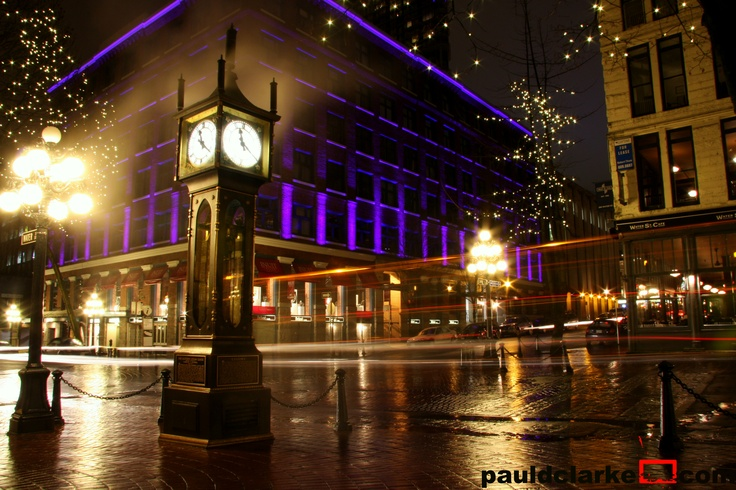 Gastown, Vancouver, BC #Gastown #Vancouver #Night #City