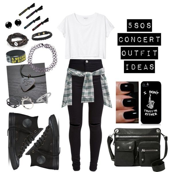 5sos Concert Outfit Ideas #4 by jazziwheat on Polyvore featuring polyvore fashion style Monki New Look Converse FOSSIL Isabel Marant ChloBo Alexander McQueen Maria Black NARS Cosmetics 5sos 5secondsofsummer 5sosconcert