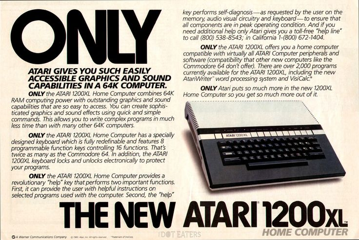 It's only the new Atari 1200XL #computer (1983). #bitstory