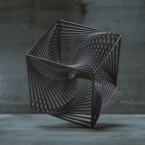 Form: 3 dimensional, shadow in the image