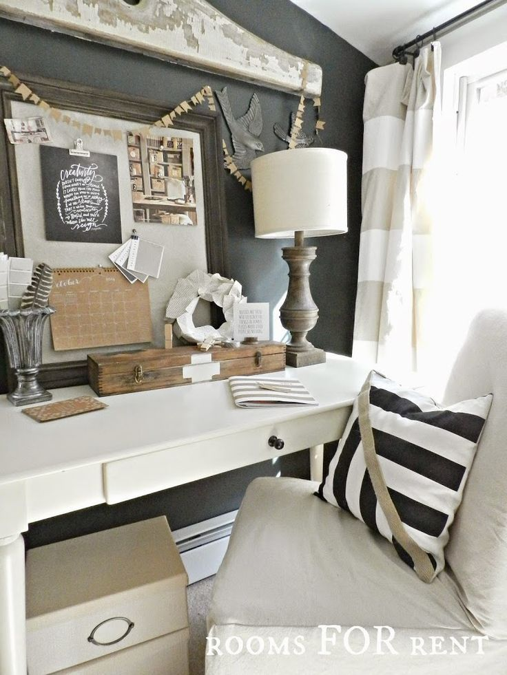 Best 25+ Cozy home office ideas on Pinterest | Reading room, Navy office  and Dark blue walls