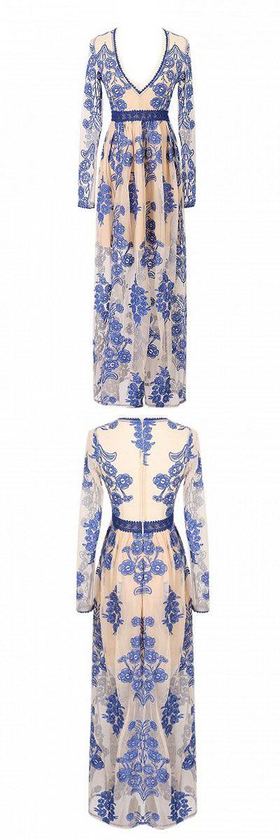 #boho Maxi lace dress boho style in choies.com