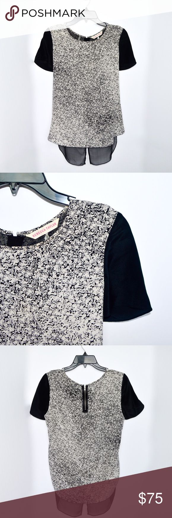 REBECCA TAYLOR SALE OUT Rebecca Taylor speckled top with a sheer underlay in perfect condition!  🚫NO TRADES  💵Will accept reasonable offers! 🤗 comment any questions you may have! Rebecca Taylor Tops Blouses