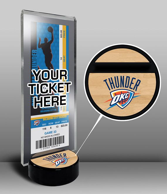 Oklahoma City Thunder Ticket Display Stand - Team Logo or My First Game