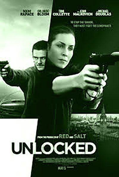UNLOCKED is een Amerikaanse thriller uit 2017 geregisseerd door  Michael Apted en geschreveb door  Peter O'Brien. De hoofdrollen zijn voor Noomi Rapace, Orlando Bloom, Michael Douglas, John Malkovich enToni Collette.