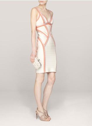 Hervé Léger - Niyaz paneled bandage dress | Multi-colour Cocktail Dresses | Womenswear | Lane Crawford - Shop Designer Brands Online