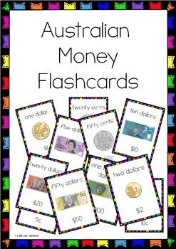 These Australian money flashcards are going to be a fantastic addition to your unit on Money (as required to teach in the Australian Curriculum). Print, cut, laminate, and put on a hinged ring to make great flashcards for your children to learn Australian currency.