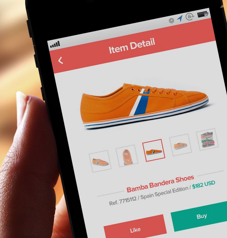 flat + clean eccomerce footwear mobile site...from dribble