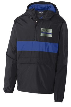 Keep your valuables accessible and secure with our new Thin Blue Line Flag Zipped Jacket!